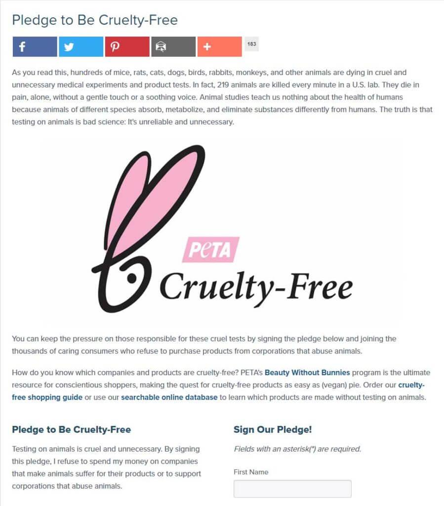 Pledge to Be Cruelty-Free