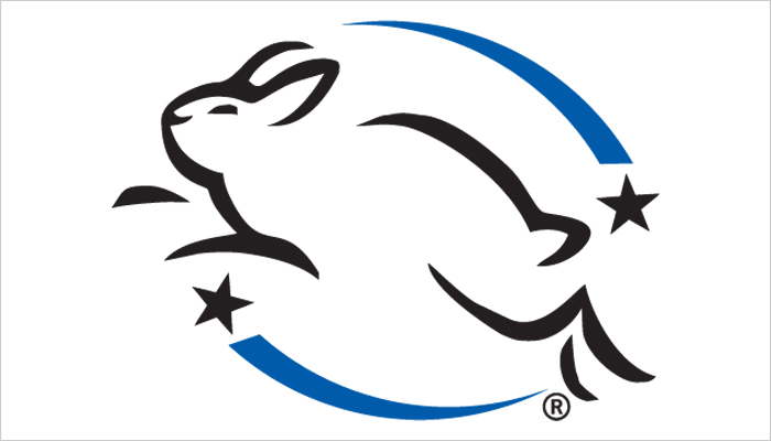 Brands with this logo are not tested on animals