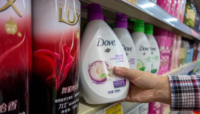dove soap bottle
